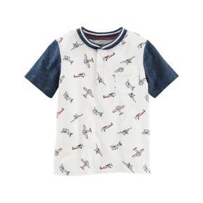 Toddler Boy OshKosh B'gosh®  Airplane Print Henley Top