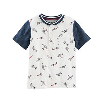 Toddler Boy OshKosh B'gosh® Airplane Print Henley Top
