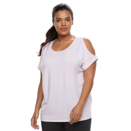 Plus Size Tek Gear® Cold-Shoulder Tee