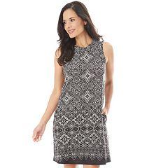 Women's Apt. 9® Printed Swing Dress