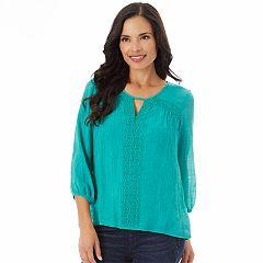 Women's Apt. 9® Crochet Keyhole Top