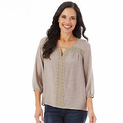 Women's Apt. 9® Crochet Keyhole Top