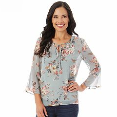 Women's Apt. 9® Printed Peasant Top
