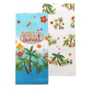 Celebrate Summer Together Sunset Kitchen Towel 2-pack