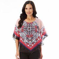 Women's Apt. 9® Printed Chiffon Popover Top