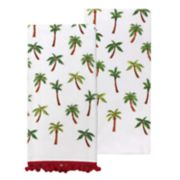 Celebrate Summer Together Palm Toss Kitchen Towel 2-pack