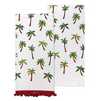 Celebrate Summer Together Palm Toss Kitchen Towel 2-pack