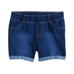 Baby Girl Jumping Beans® Faux-Denim Shorts