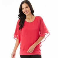 Women's Apt. 9® Textured Chiffon Popover Top