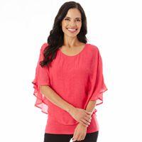 Women's Apt. 9® Textured Chiffon Popover Top