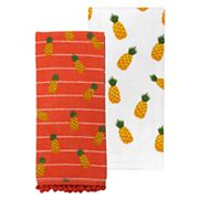 Celebrate Summer Together Pineapple Toss Kitchen Towel 2-pack