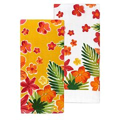 Celebrate Summer Together Floral Kitchen Towel 2-pack