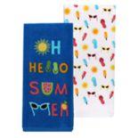 Celebrate Summer Together Hello Summer Kitchen Towel 2-pack