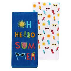 Celebrate Summer Together Hello Summer Kitchen Towel 2-pack