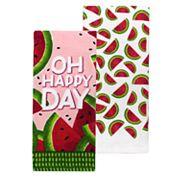 Celebrate Summer Together Watermelon Kitchen Towel 2-pack