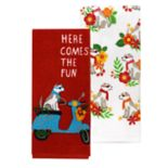 Celebrate Summer Together Fun Dog Kitchen Towel 2-pack