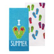 Celebrate Summer Together I Love Summer Kitchen Towel 2-pack