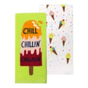 Celebrate Summer Together Chill Popsicle Kitchen Towel 2-pack