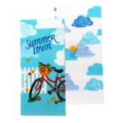 Celebrate Summer Together Bike Kitchen Towel 2-pack