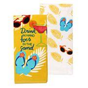 Celebrate Summer Together Drinks Kitchen Towel 2-pack