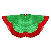 Northlight 60-in. Green & Red Velveteen Christmas Tree Skirt