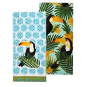 Celebrate Summer Together Toucan Kitchen Towel 2-pack