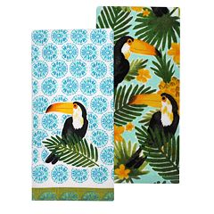 Celebrate Summer Together Toucan Kitchen Towel 2-pack
