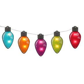 10-Light Multi-Colored Bulb Indoor / Outdoor Christmas Lights