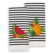 Celebrate Summer Together Melon Pine Stripe Kitchen Towel 2-pack