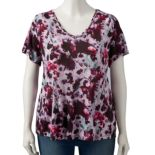 Plus Size Simply Vera Vera Wang Printed V-Neck Tee