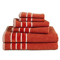 Portsmouth Home Rice Weave 6 pc Bath Towel Set