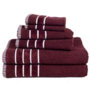 Portsmouth Home Rice Weave 6-piece Bath Towel Set
