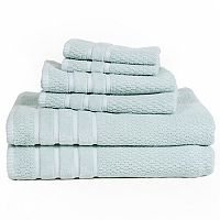 Portsmouth Home Rice Weave 6 pc Bath Towel Set