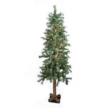 9-ft. Pre-Lit Traditional Woodland Alpine Artificial Christmas Tree