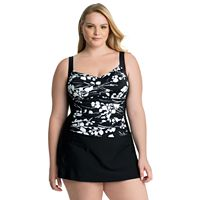 Plus Size Croft & Barrow® Tummy Slimmer Skater Swimdress