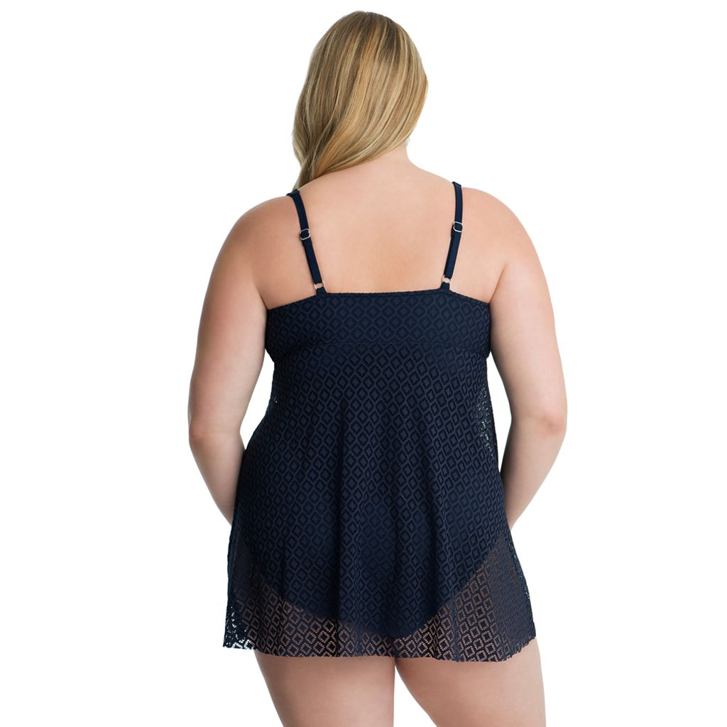 Plus Size Croft & Barrow® Crochet Flyaway Swimdress