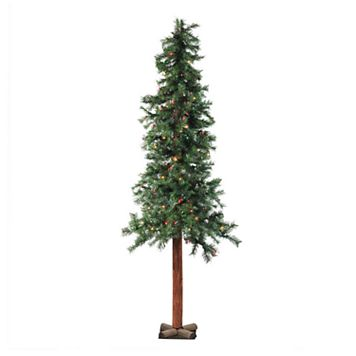 7-ft. Pre-Lit Traditional Woodland Alpine Artificial Christmas Tree
