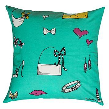 Rizzy Home Shopper Girl Accessories Purse Throw Pillow