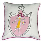 Rizzy Home Rachel Kate Shopper Girl Throw Pillow