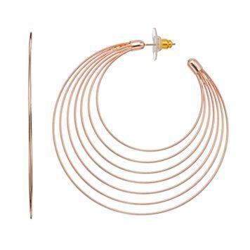 Concentric Nickel Free Hoop Earrings