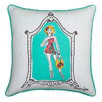 Rizzy Home Rachel Kate Shopper Girl Print Throw Pillow