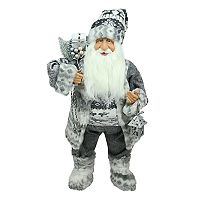 Northlight 24-in. Fairisle Faux-Fur Alpine Santa Christmas Decor