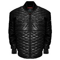 Big & Tall Franchise Club Double Diamond Lambskin Leather Bomber Jacket
