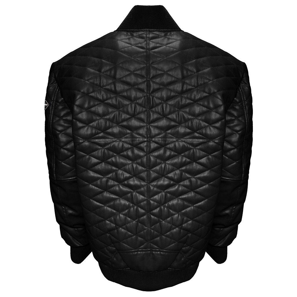 Big & Tall Franchise Club Double Diamond Lambskin Leather Bomber Jacket