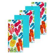 Celebrate Summer Together Flip-Flop Kitchen Towel 5-pack