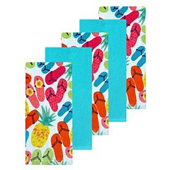 Celebrate Summer Together Flip-Flop Kitchen Towel 5-pack