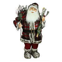Northlight 3-ft. Snowshoes & Skis Faux-Fur Santa Christmas Decor