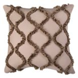 Rizzy Home Ogee Georgette Ruffle Throw Pillow