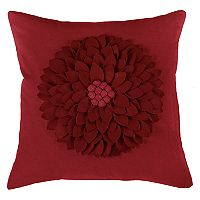 Rizzy Home Dimensional Felt Flower Applique Throw Pillow