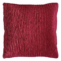 Rizzy Home Solid Gathered Throw Pillow